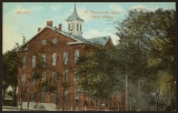 Picture postcard of the public school in St. Clairsville
